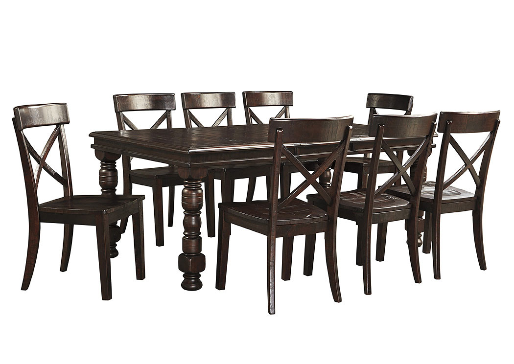 ramos furniture gerlane dark brown rectangular dining room