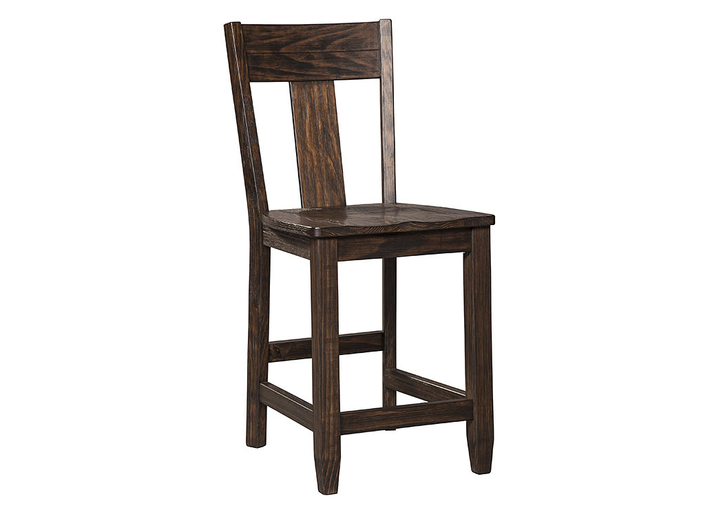 Trudell Dark Brown Barstool (Set of 2),Signature Design By Ashley