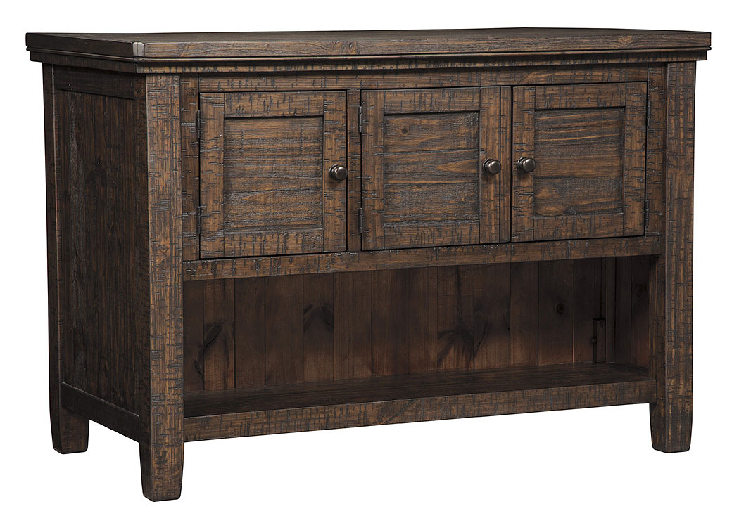 Trudell Dark Brown Rectangular Counter Height Table w/Storage,Signature Design By Ashley
