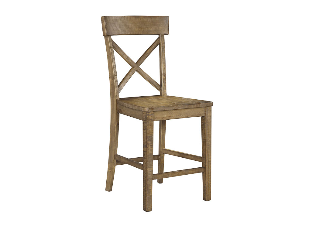 Trishley Light Brown Barstool (Set of 2),Signature Design By Ashley
