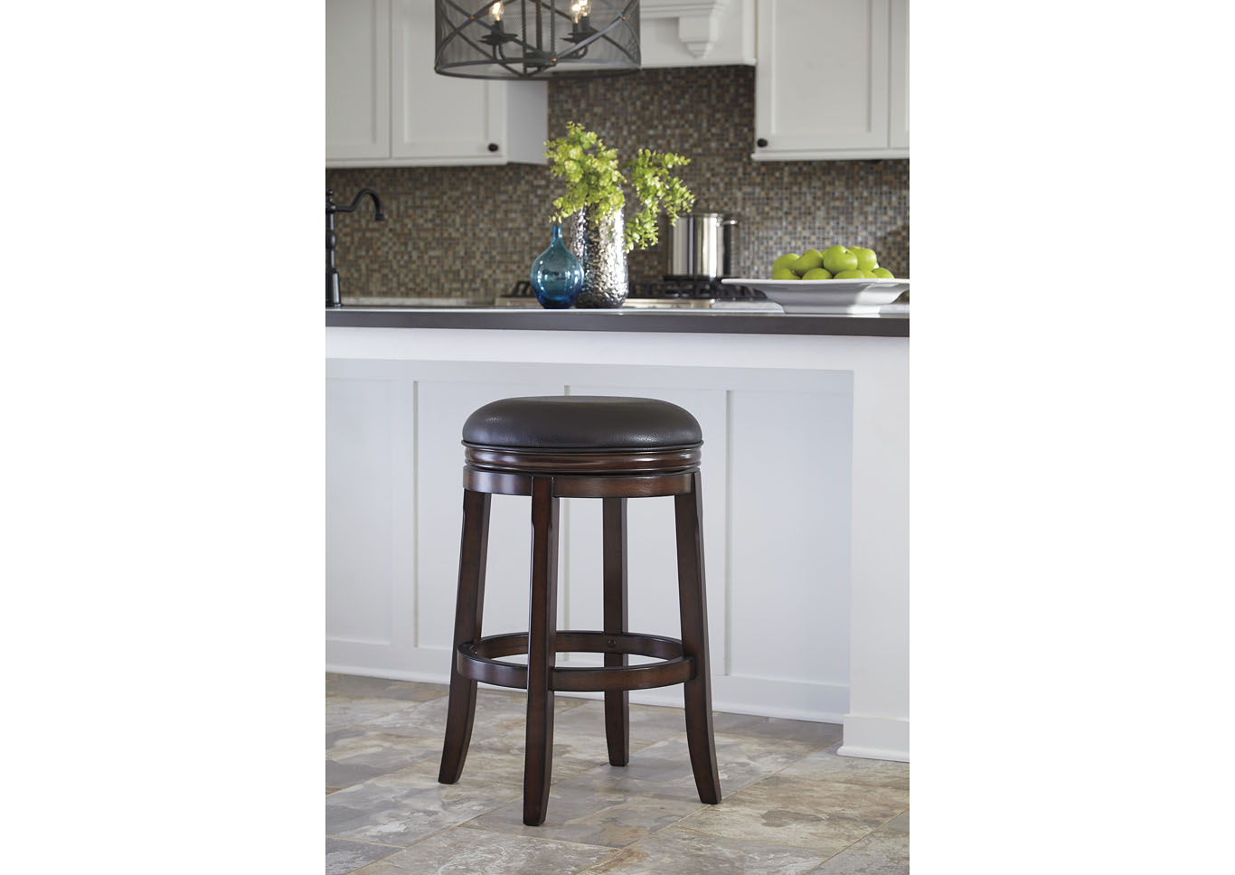 Tall Upholstered Swivel Stool (Set of 2),48 Hour Quick Ship