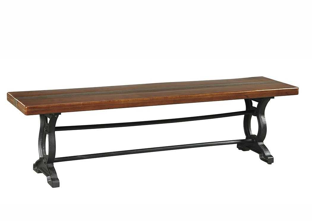 Zurani Brown/Black Large Dining Bench,Signature Design By Ashley