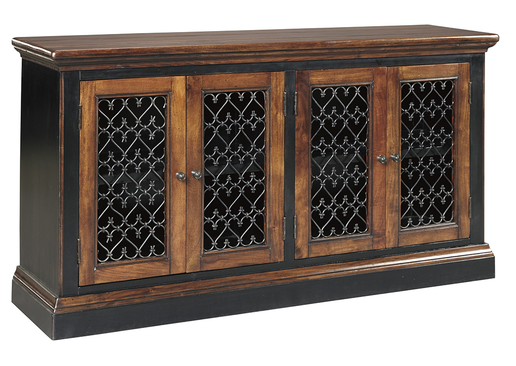 Zurani Brown/Black Dining Room Server,Signature Design By Ashley
