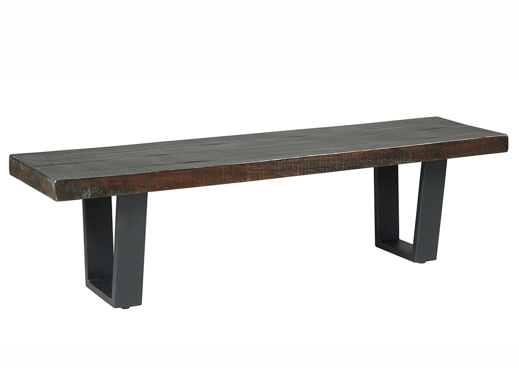 Parlone Dark Brown Large Dining Bench,Signature Design By Ashley