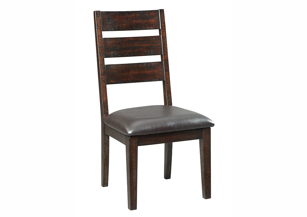 305115 Parlone Dark Brown Dining Upholstered Side Chair