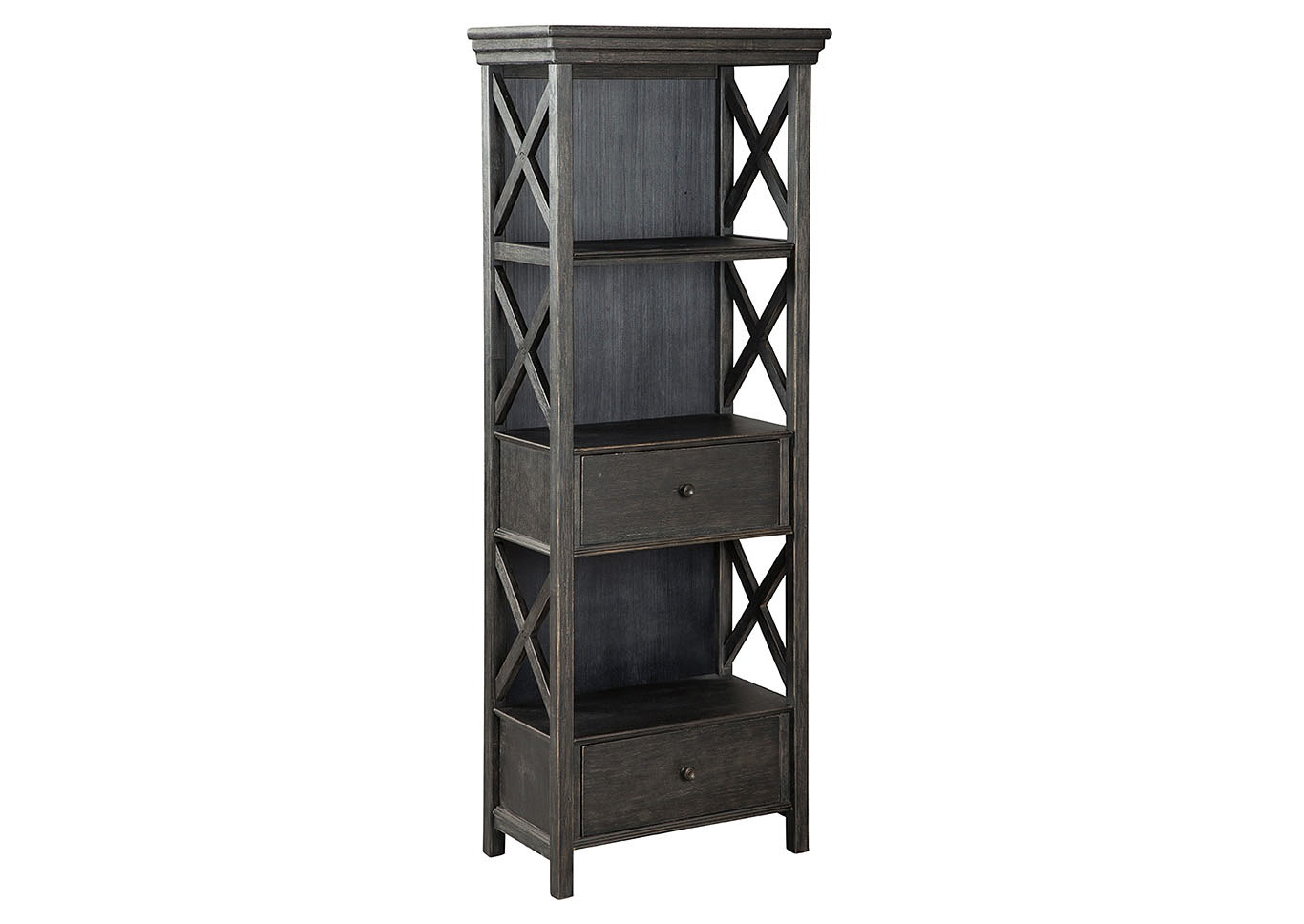 Homelife Furniture Accessories Tyler Creek Black Gray Display Cabinet