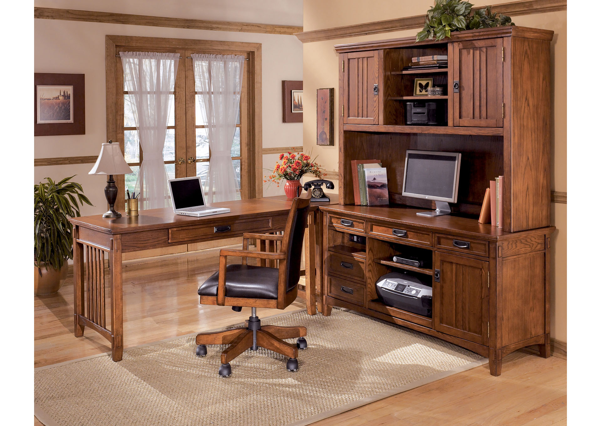 Cross Island 4-Piece L-Shape Desk ,ABF Signature Design by Ashley