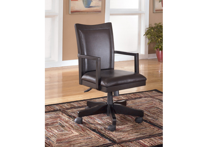 Carlyle Office Arm Chair w/Swivel & Adjust Height,Signature Design by Ashley