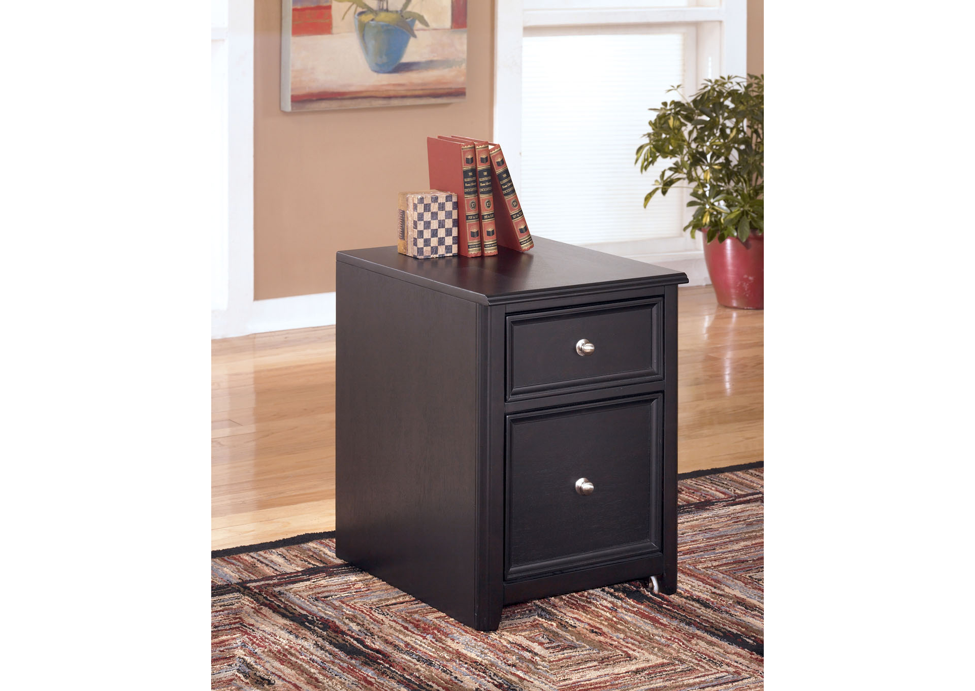 Carlyle 2 Drawer Mobile File Cabinet,Signature Design by Ashley