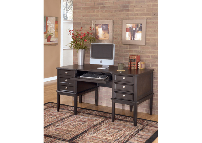 Carlyle Leg Desk w/ Storage,ABF Signature Design by Ashley