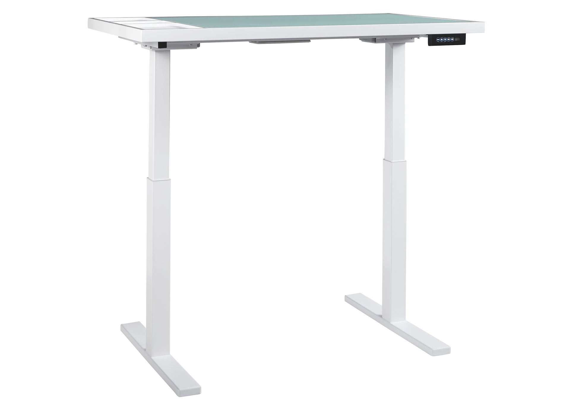 Baraga White Adjustable Height Desk,ABF Signature Design by Ashley