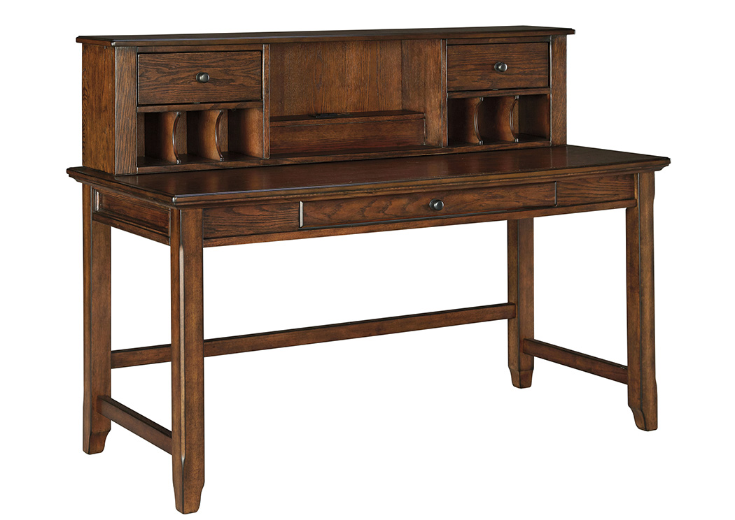 Woodboro Brown Home Office Desk w/Hutch,ABF Signature Design by Ashley