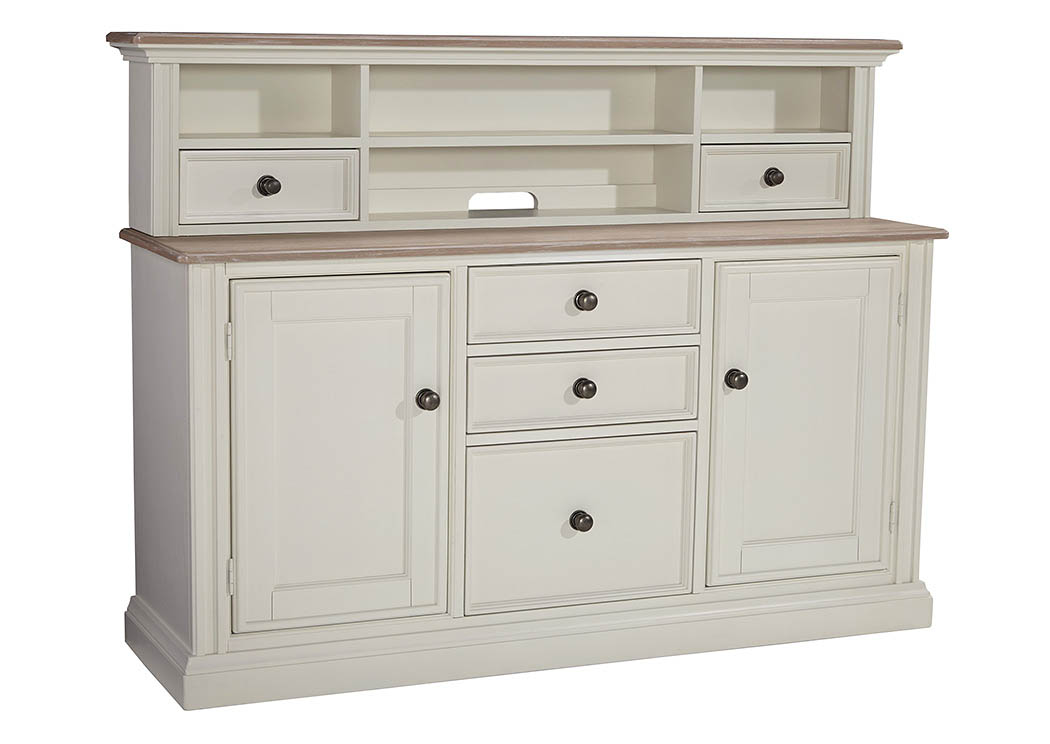 Sarvanny Two-tone Large Credenza Home Office Short Desk Hutch,Signature Design by Ashley