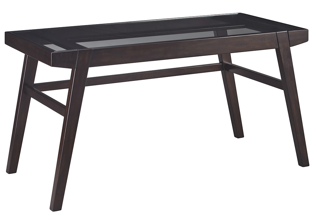 Chanceen Dark Brown Home Office Desk,Signature Design By Ashley