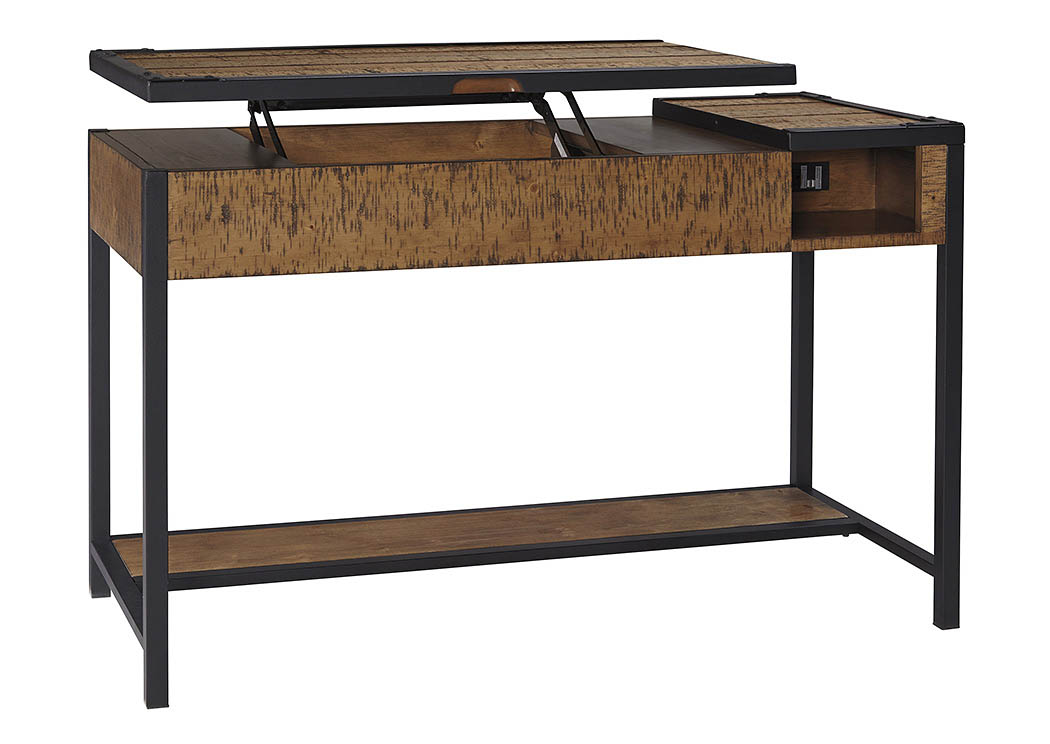 Kalean Two-Tone Home Office Lift Top Desk,Signature Design by Ashley