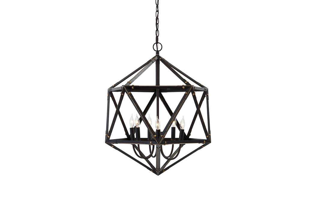 Bronze Finish Metal Pendant Light,Signature Design By Ashley