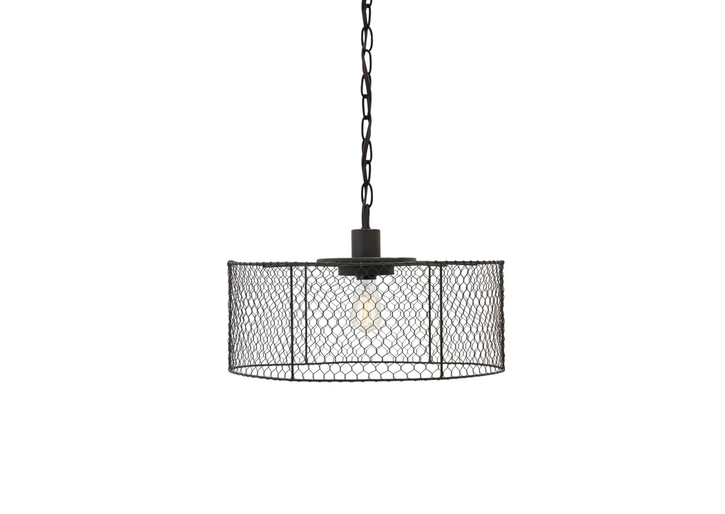 Black Metal Pendant Light,ABF Signature Design by Ashley