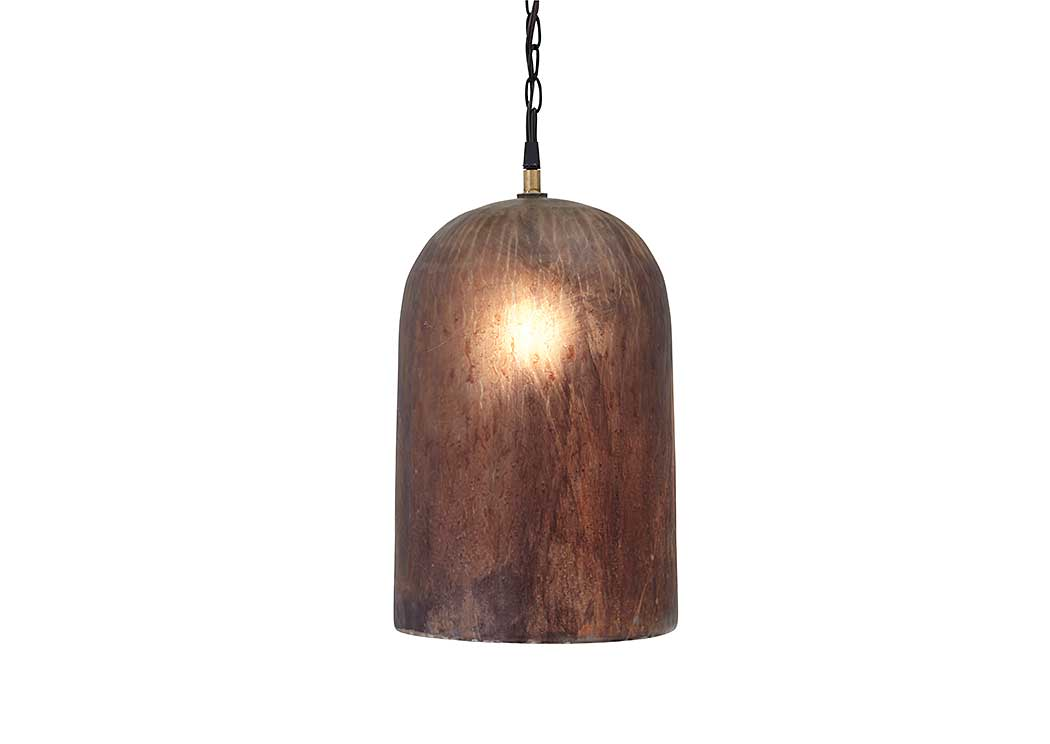 Fabunni Brown Glass Pendant Light,Signature Design by Ashley