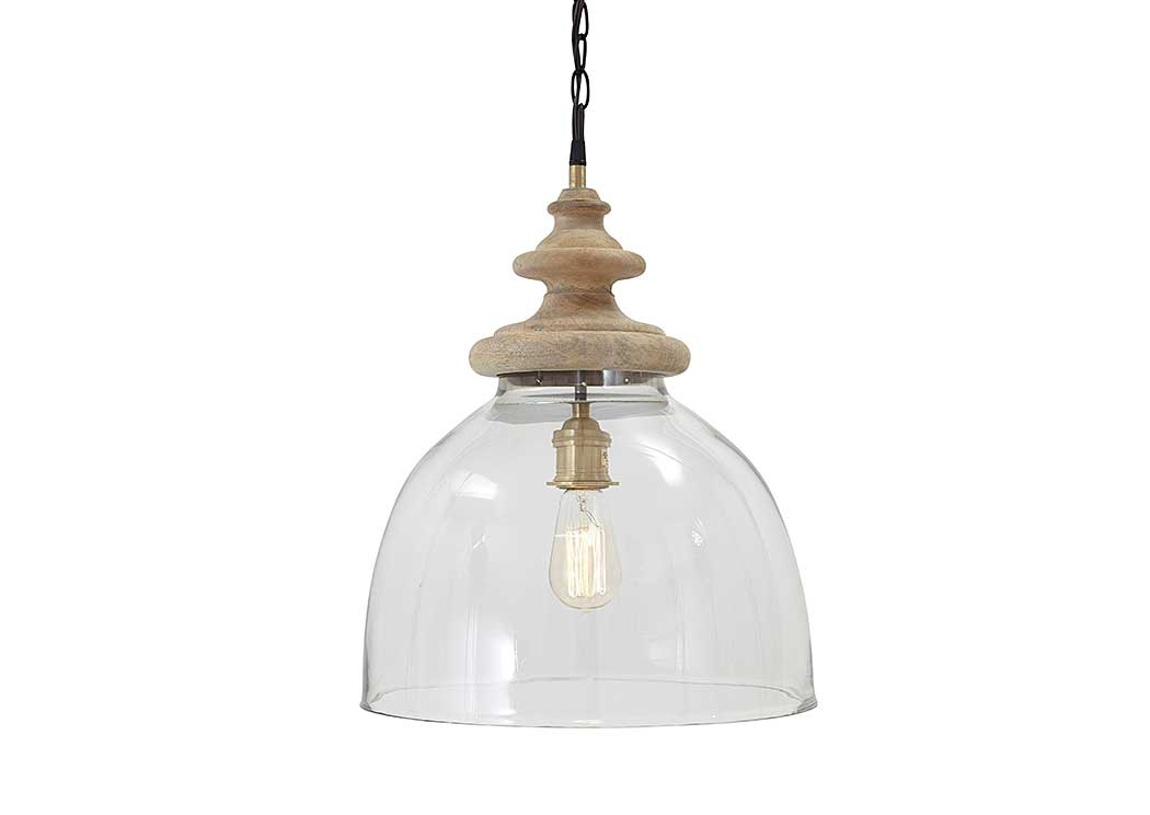 Farica Transparent Glass Pendant Light,Signature Design by Ashley