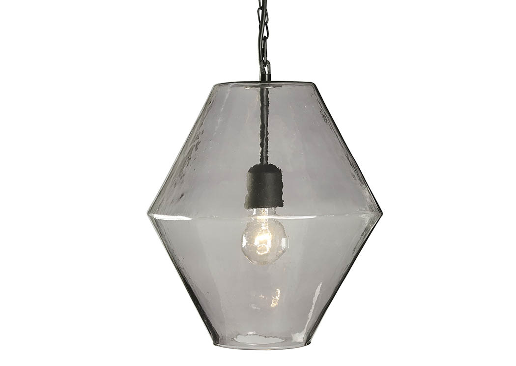 Daquan Purple Glass Pendant Light,Signature Design By Ashley