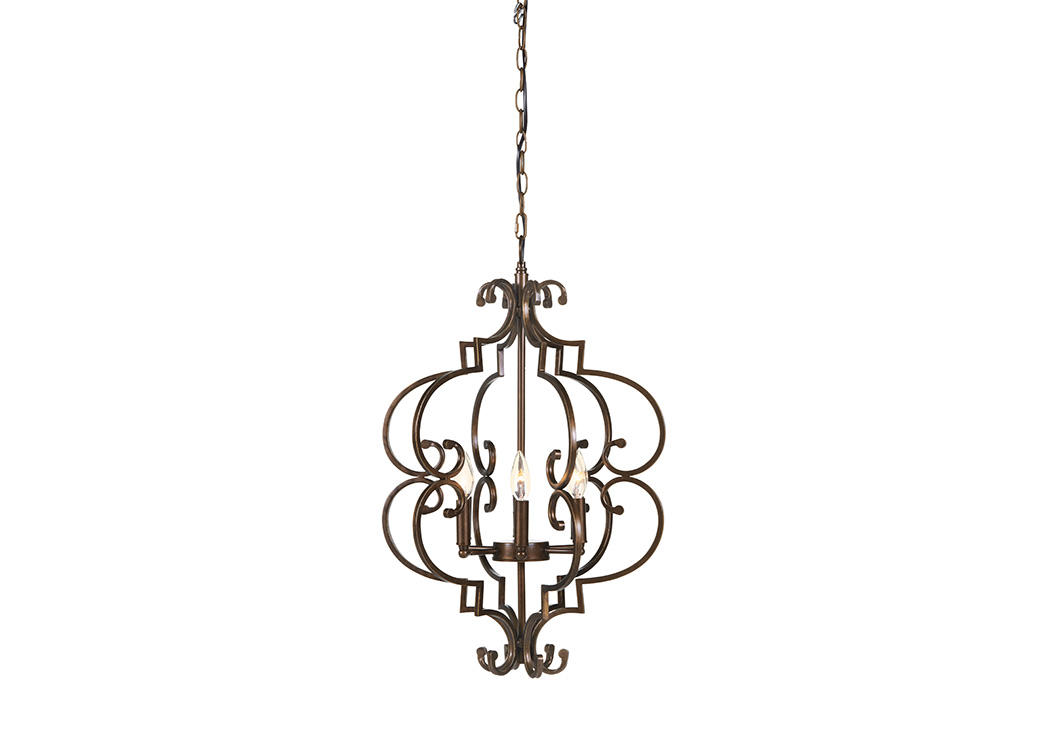 Kanab Antique Copper Finish Metal Pendant Light,Signature Design By Ashley