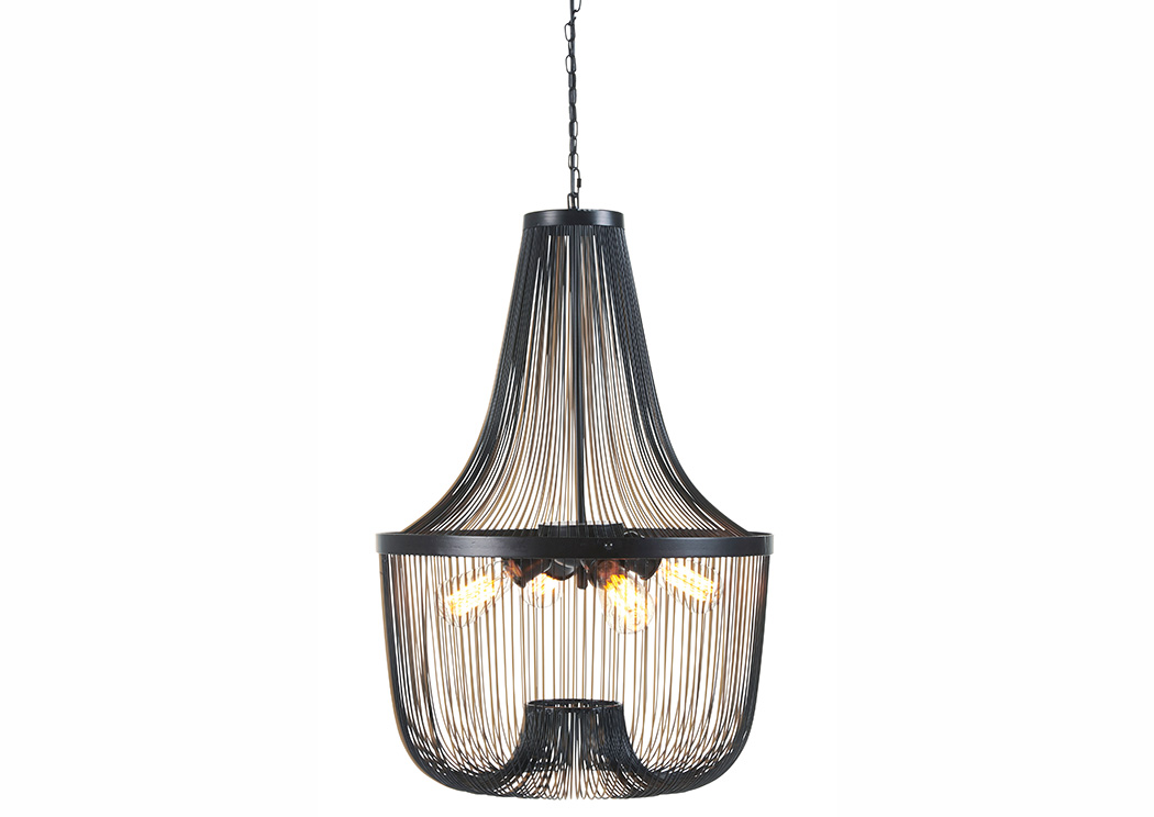 Jessika Black Metal Pendant Light,Signature Design By Ashley