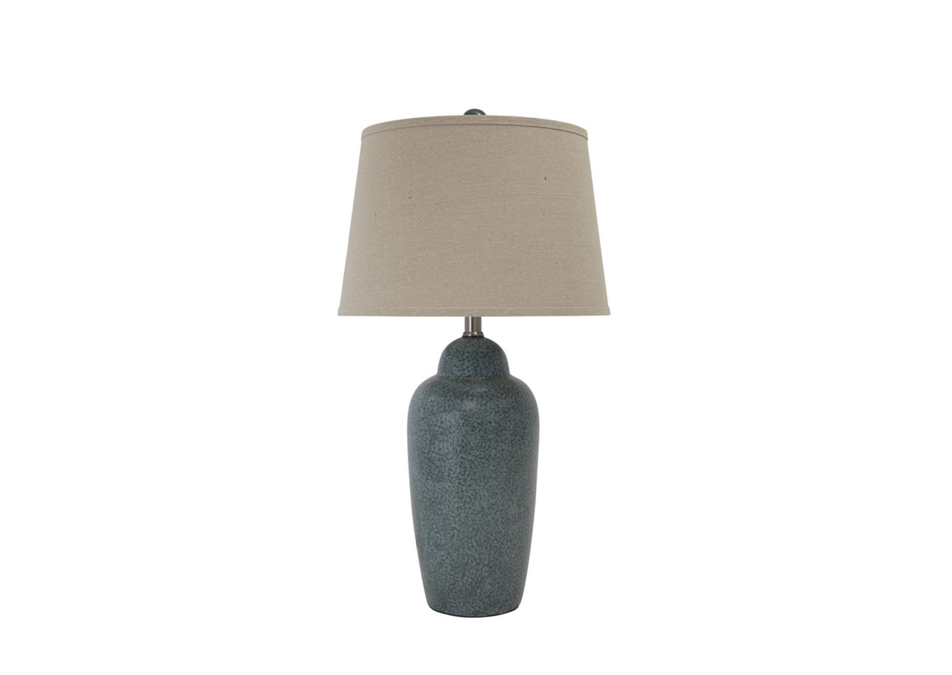 Accents green ceramic table lamp