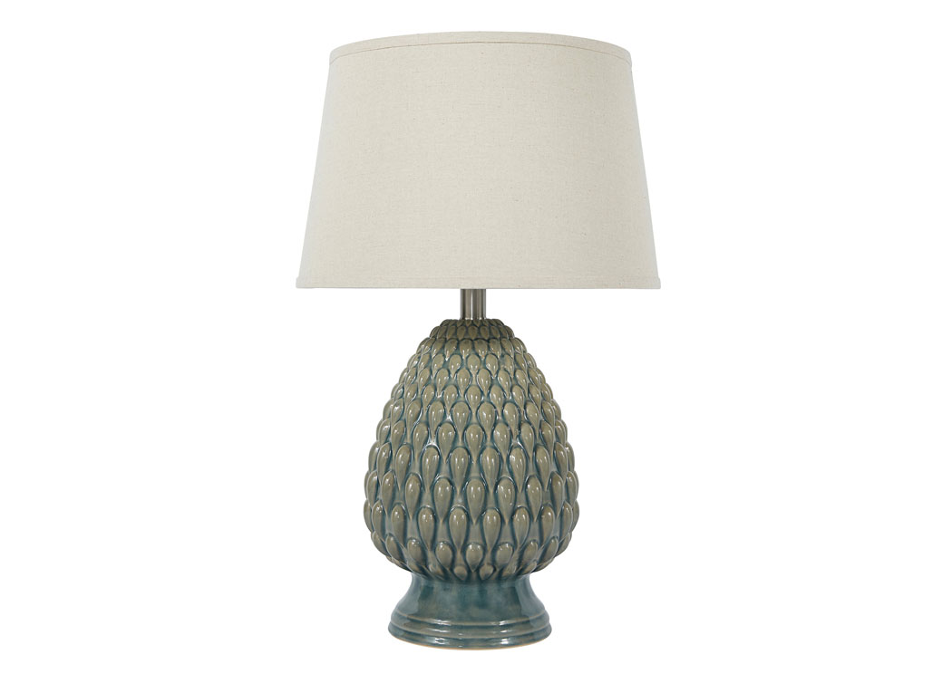 Teal Ceramic Table Lamp,Signature Design by Ashley