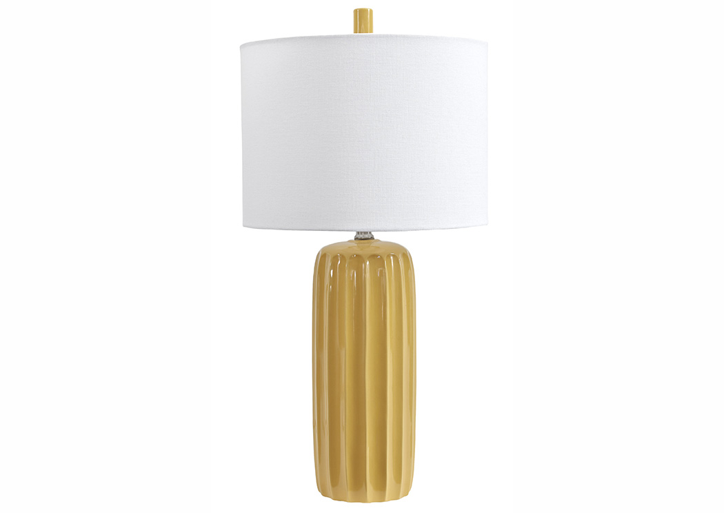 Adorlee Yellow Ceramic Table Lamp (Set of 2),Signature Design by Ashley