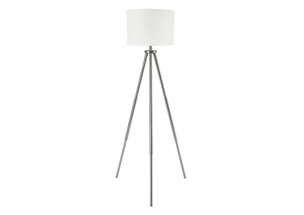 Susette Brushed Silver Finish Metal Floor Lamp,Signature Design By Ashley