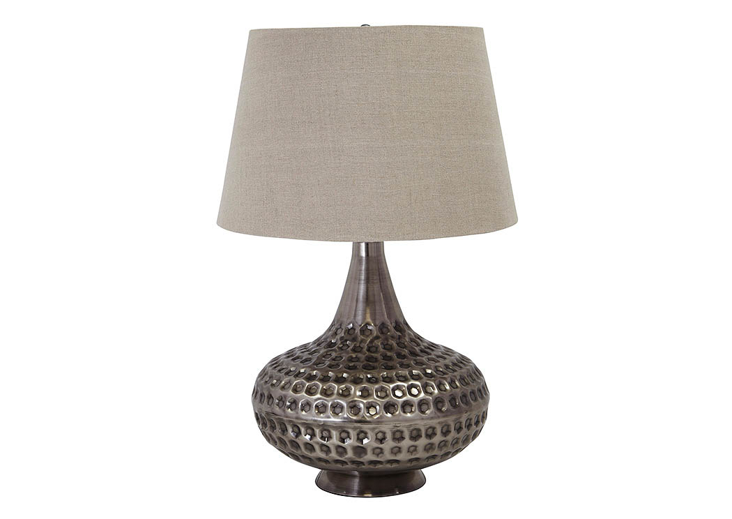 Sarely Pewter Finish Metal Table Lamp,Signature Design By Ashley