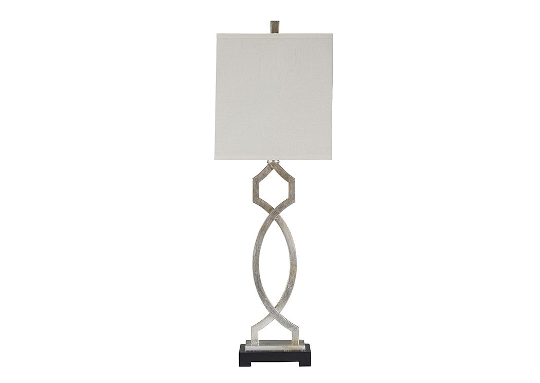 Taggert Silver Leaf Metal Table Lamp,Signature Design By Ashley