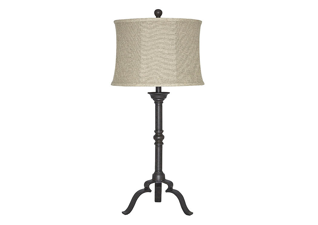Airlia Antique Brown Metal Table Lamp,Signature Design By Ashley