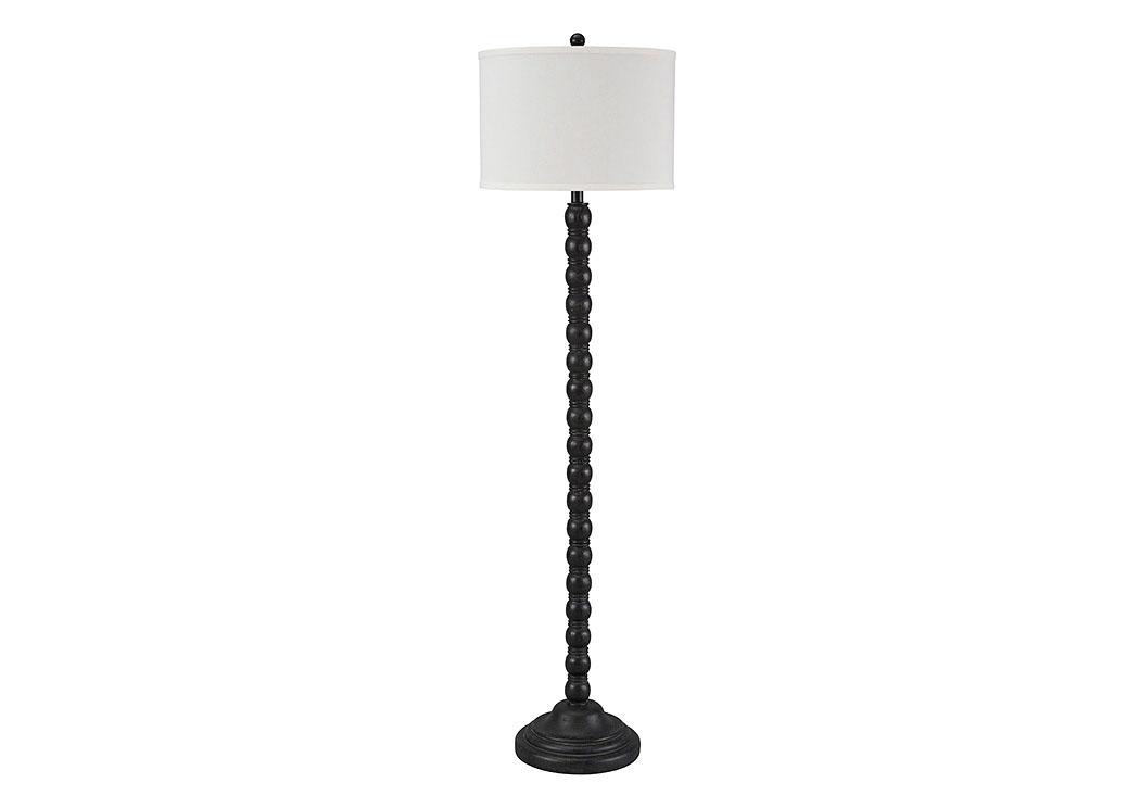 Majek Furniture Shellany Antique Black Poly Floor Lamp
