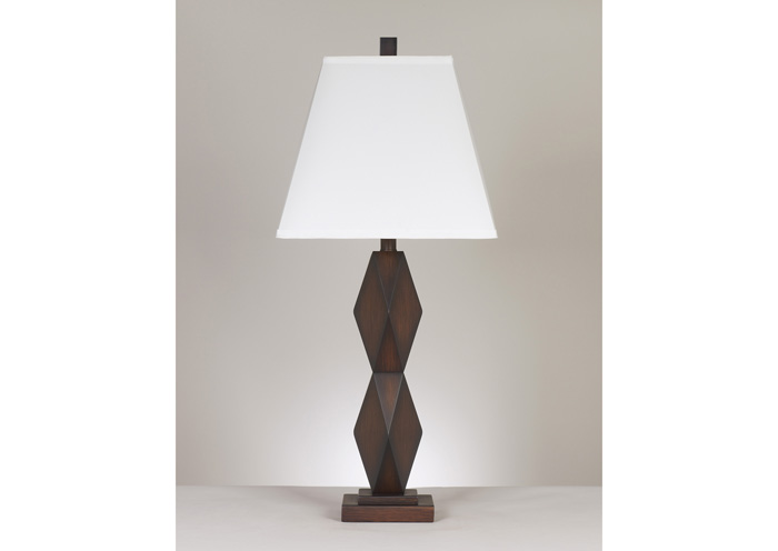 Natane Dark Brown Poly Table Lamp (Set of 2),Signature Design by Ashley