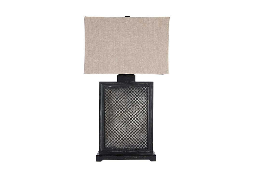 Shalonda Black/Silver Finish Metal Table Lamp