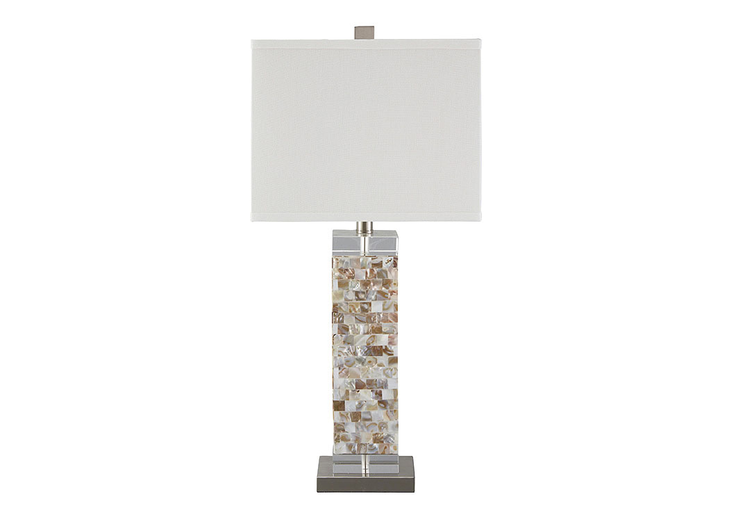 Tahira Cream Shell Table Lamp,Signature Design By Ashley