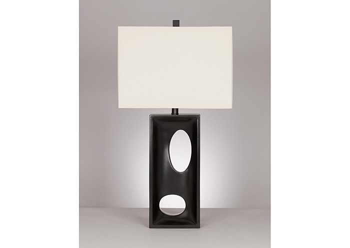 Maxine Black Poly Table Lamp (Set of 2),Signature Design by Ashley