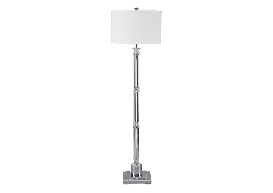 Marlon Clear/Silver Finish Metal Floor Lamp,Signature Design By Ashley