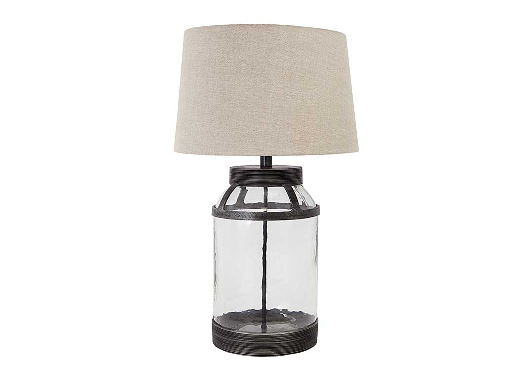 Shanika Transparent Glass Table Lamp,Signature Design By Ashley