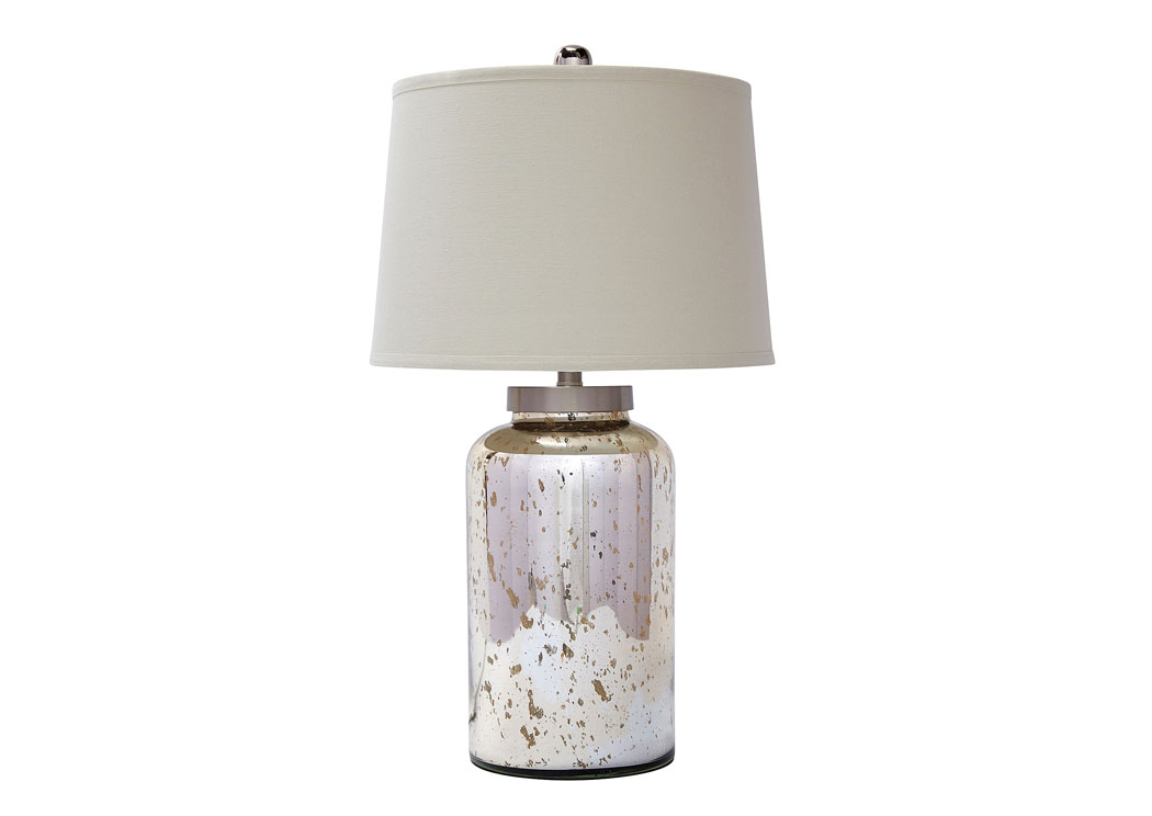 Gold Finish Glass Table Lamp,Signature Design by Ashley