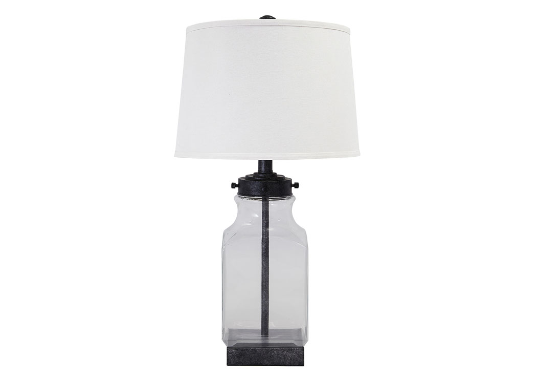 Transparent & Silver Finish Glass Table Lamp,Signature Design By Ashley