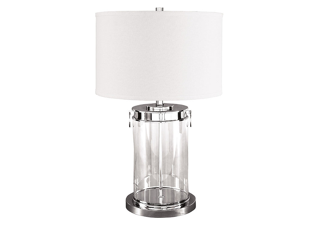 Tailynn Clear/Silver Finish Glass Table Lamp,Signature Design By Ashley