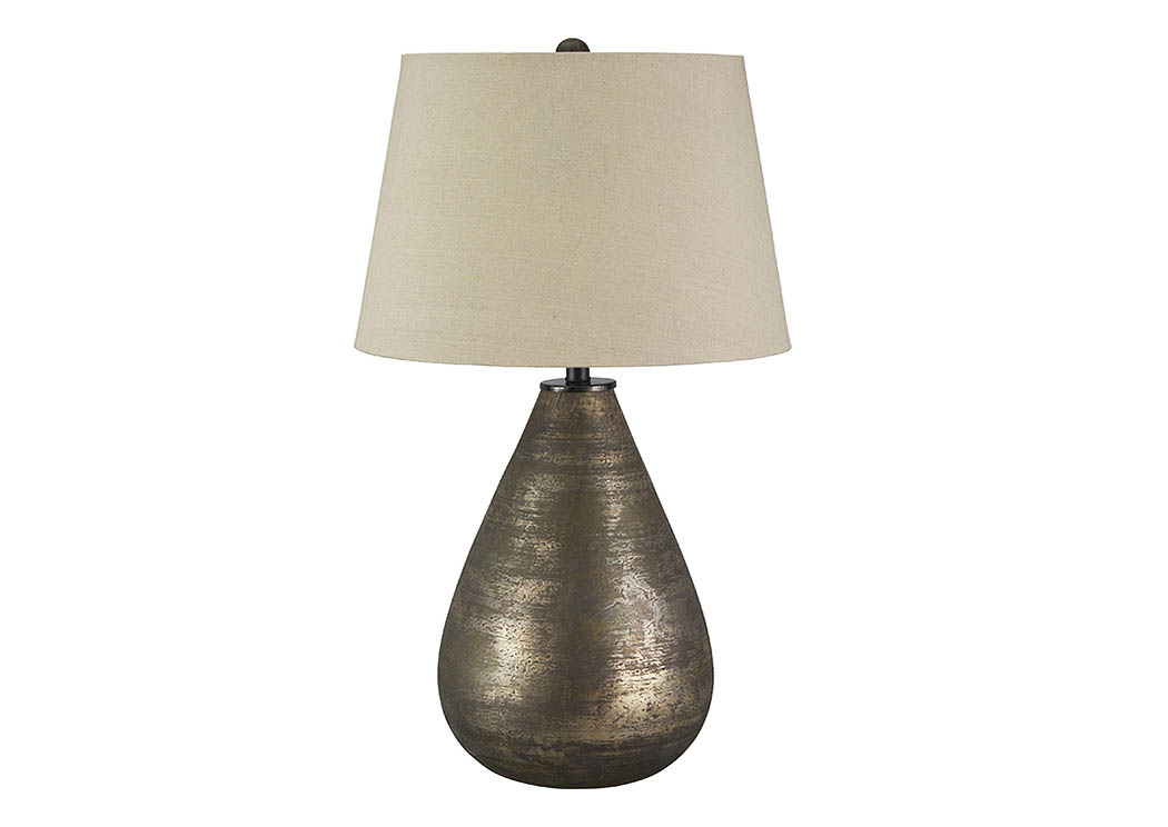 Taber Antique Gray Glass Table Lamp,Signature Design By Ashley