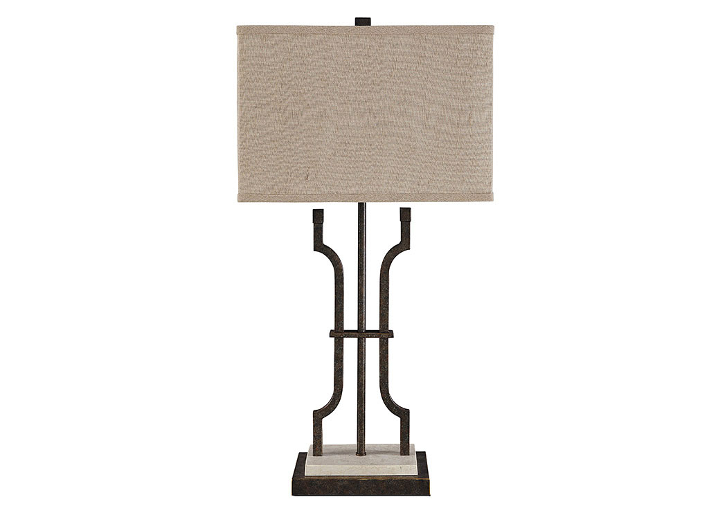 Malik Brown Metal Table Lamp,Signature Design By Ashley