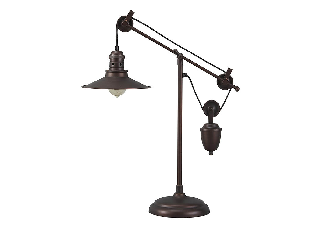 Kylen Bronze Finish Metal Desk Lamp,Signature Design by Ashley