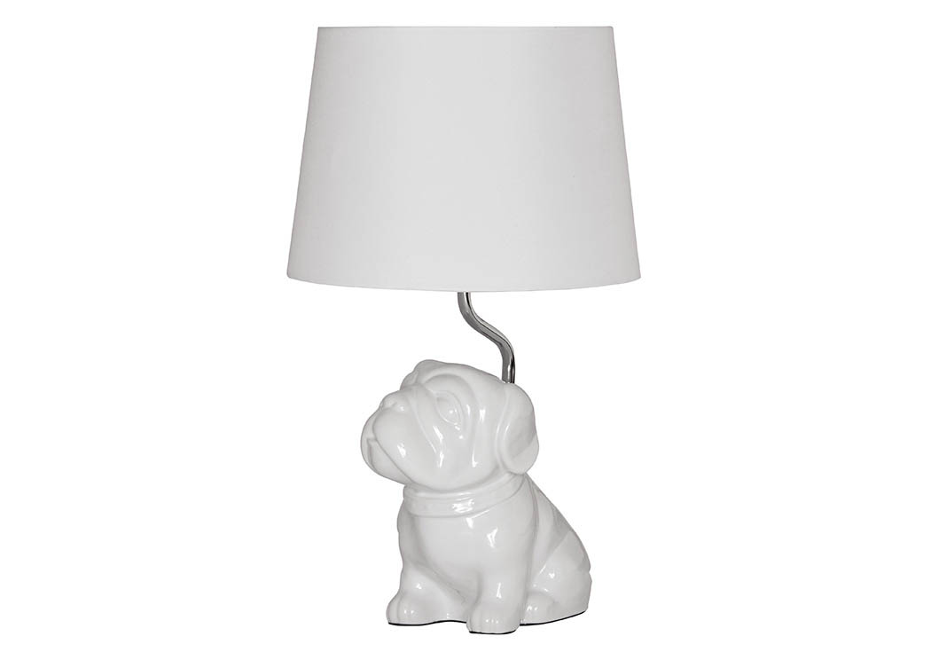 Avel White Ceramic Table Lamp,Signature Design By Ashley