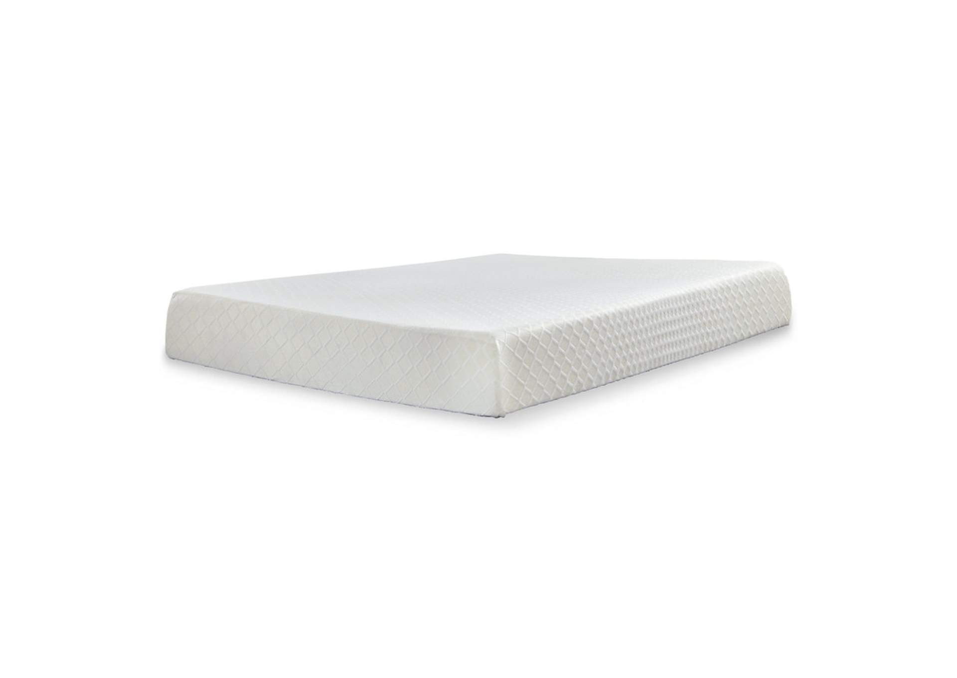 10 Inch Chime Memory Foam White Twin Mattress,Sierra Sleep by Ashley
