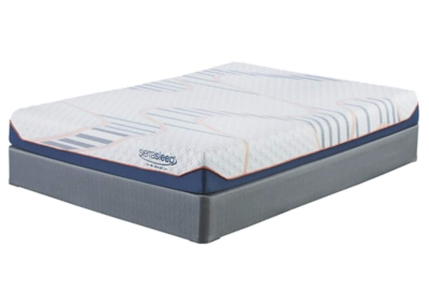 8 Inch MyGel White Queen Mattress w/Foundation,Sierra Sleep by Ashley