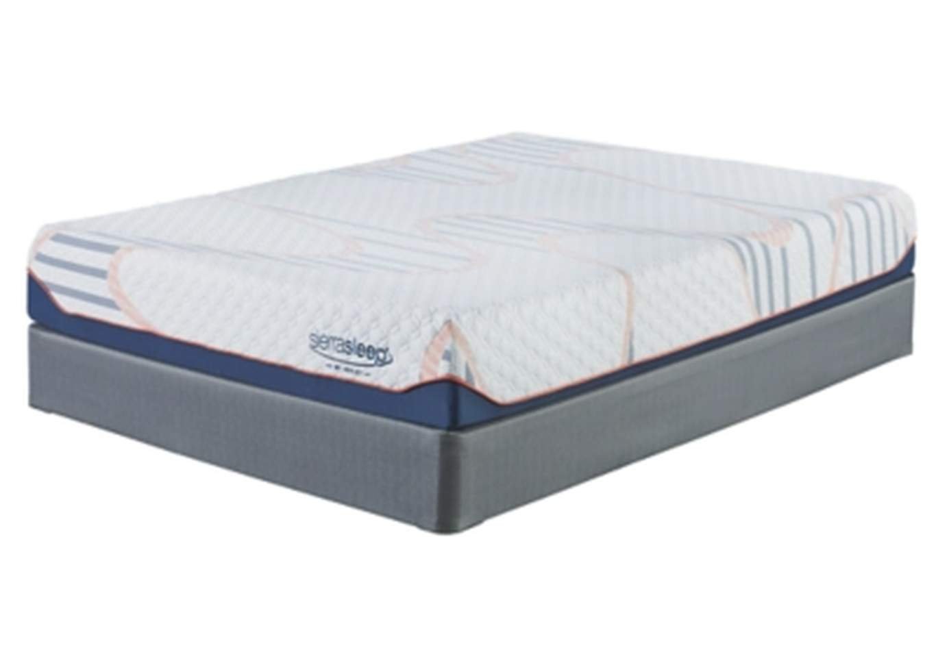 10 Inch MyGel White Twin Mattress w/Foundation,Sierra Sleep by Ashley